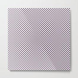 Wineberry Polka Dots Metal Print