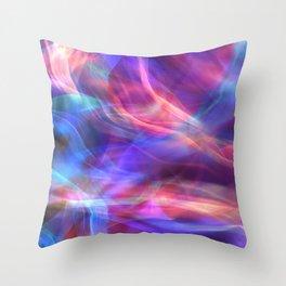 Abstract Shiny Night Lights 14 Throw Pillow