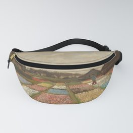 Classic Art - Flower Beds in Holland - Vincent van Gogh Fanny Pack