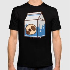 Puglie Milk Carton LARGE Black Mens Fitted Tee