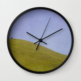 Cow on the Hill Wall Clock