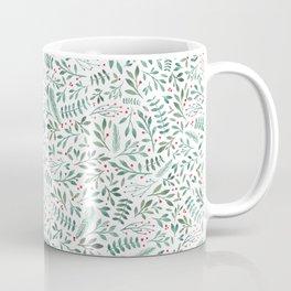 Green Leaves and Red Berries. Coffee Mug