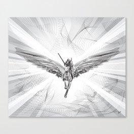 Flying Unicorn Canvas Print