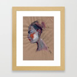 Portrait study Framed Art Print