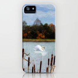 Autumn Swan iPhone Case