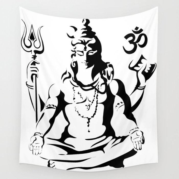 Shiva Drawing Parvati Sketch Wall Tapestry By Ergyselly Society6