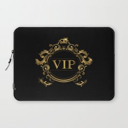 VIP In Black and Goldtone Laptop Sleeve