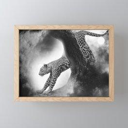 Leopard Night Hunt Framed Mini Art Print