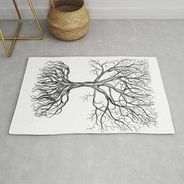 Bare tree with root Rug