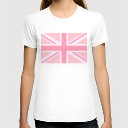 Pink Union Jack/Flag Design T-shirt