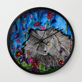 India the Pretty Kitty Wall Clock