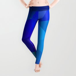 Sapphire Low Poly Leggings
