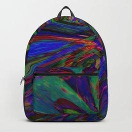 Psychedelic Flower Swirl Backpack
