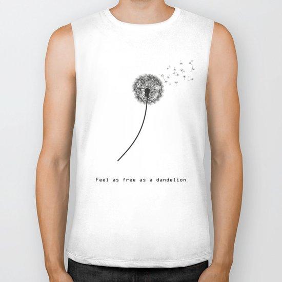 Feel as free as a dandelion Biker Tank