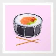 SUSHI DRUM ROLL Art Print