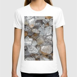 Singing beach sand under a microscope T-shirt