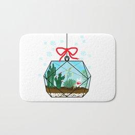 Cactus Terrarium Christmas Gift Bath Mat