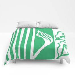 Long Leaf Stripe green Comforters