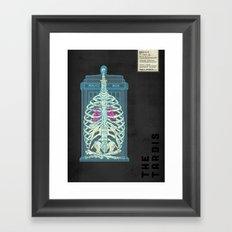 Spaceship Skeletal Survey: The Tardis Framed Art Print