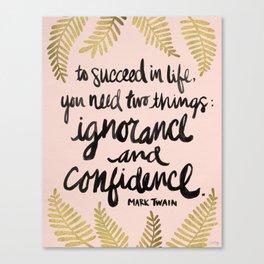 Ignorance & Confidence #2 Canvas Print
