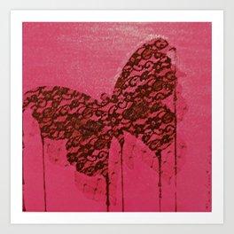Papillon macabre Art Print