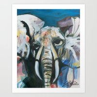 Elephantal  Art Print