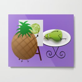 Fruit Art Metal Print