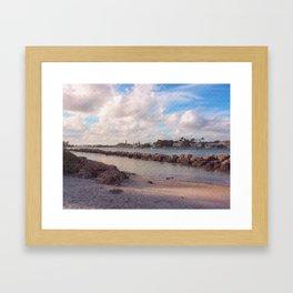 Winter Afternoon, Jupiter Inlet Lighthouse Framed Art Print