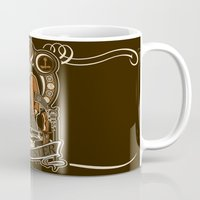 dean winchester Mugs featuring Dean Winchester Nouveau by Tracey Gurney