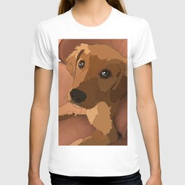 Lab Lounging on a Chair T-shirt