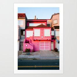 Pink House // San Francisco Art Print