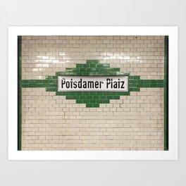 Berlin U-Bahn Memories - Potsdamer Platz Art Print
