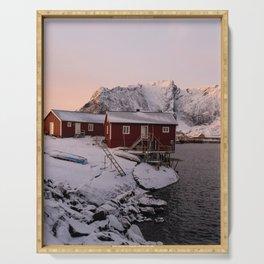 Winter in Lofoten Serving Tray