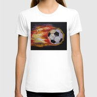 soccer T-shirts featuring Soccer by Michael Creese
