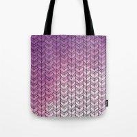 herringbone Tote Bags featuring Herringbone by Tooth & Nail Designs