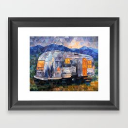 Road Trippin Airstream Framed Art Print