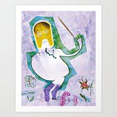 Krzysztof Penderecki Art Print