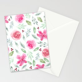Watercolor Azeleas and Roses Stationery Cards