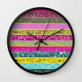 Egyptian hieroglyphs No2 Wall Clock