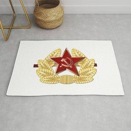 Soviet Cap Badge Rug