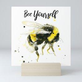 Bee Yourself - Punny Bee Mini Art Print
