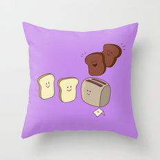 Toasty Business! Throw Pillow