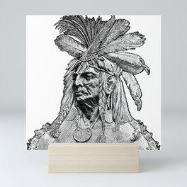 Chief / Vintage illustration redrawn and repurposed Mini Art Print