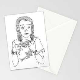 MACAULAY CULKIN EATING A SLICE OF PIZZA Stationery Cards