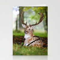 bambi Stationery Cards featuring Bambi  :)  by Ironia Art