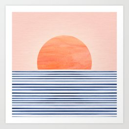 Summer Sunrise - Minimal Abstract Art Print