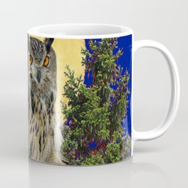 NIGHT OWL WITH FULL MOON Coffee Mug