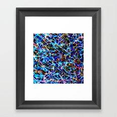 Electric Blue - a tribute -in digital design Framed Art Print