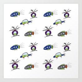 Flying Around Sparkles Art Print