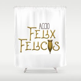 Accio Felix Felicis Shower Curtain